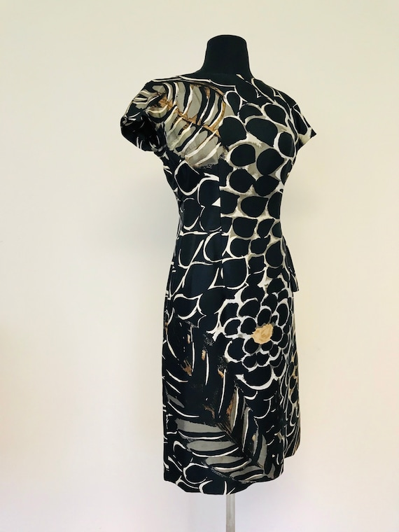 RESERVED Vintage Late 50's Silk Wiggle/ Bombshell