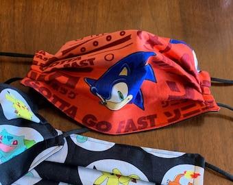 Sonic Hedgehog Masks Etsy