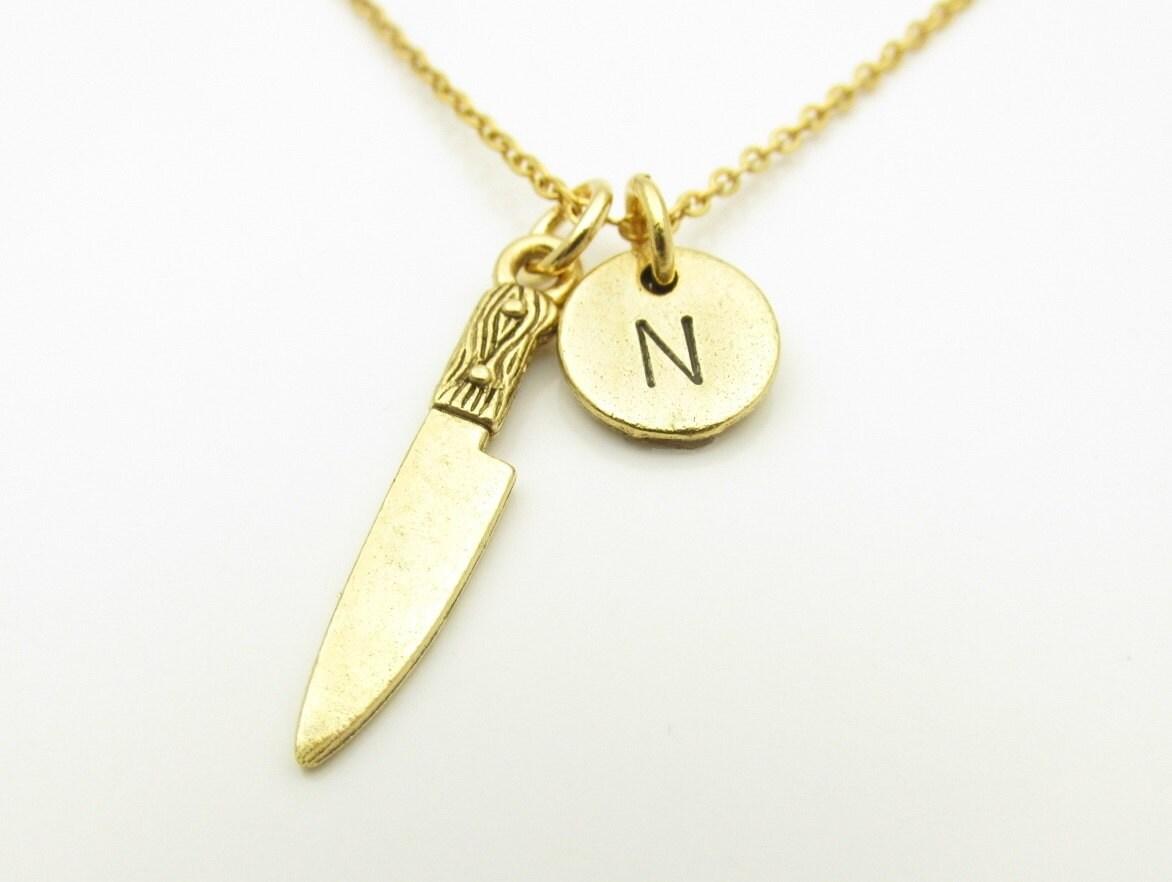 Messer-Collier Kitchen Knife Halskette Halskette Gold