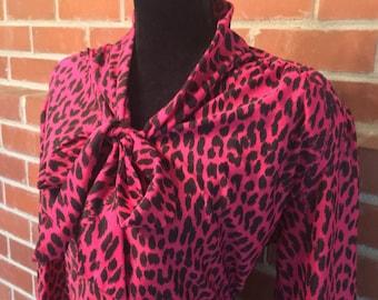 Vintage leopard print dress plus size