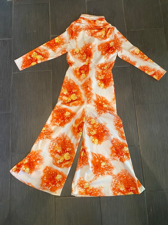 Seventies floral jumpsuit bell bottom