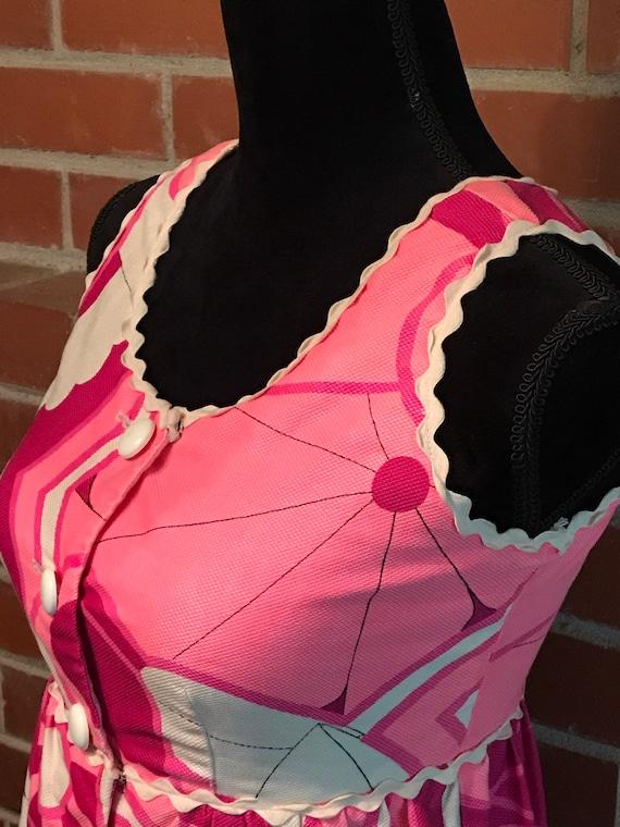 Psychedelic Hawaiian pink Maxi Tiki Dress