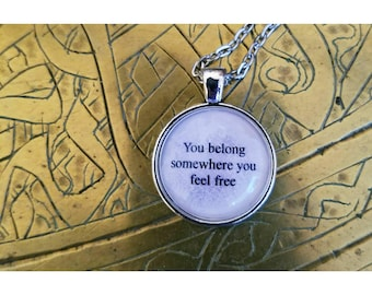 tom petty wildflowers lyric quote necklace
