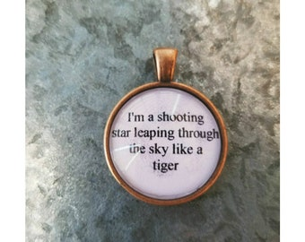 Don't stop me lyric quote necklace- Queen lyric necklace- shooting star