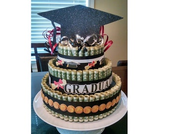 Money Cake Gift for Graduation, Father's Day, Baby Shower, Wedding, Birthday