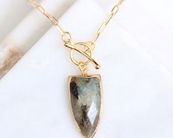 Labradorite Toggle Long Necklace