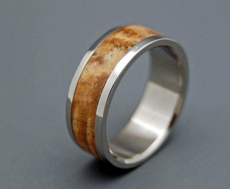 Wooden Wedding Rings titanium wedding rings wood rings mens image 0