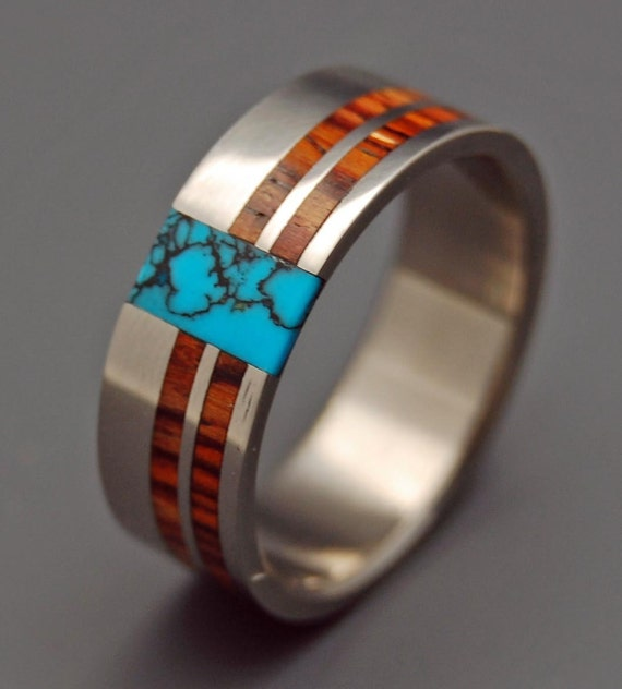 Mens Wood Wedding Bands South Africa: Wooden Wedding Rings Titanium Wedding Ring Light Cocobolo