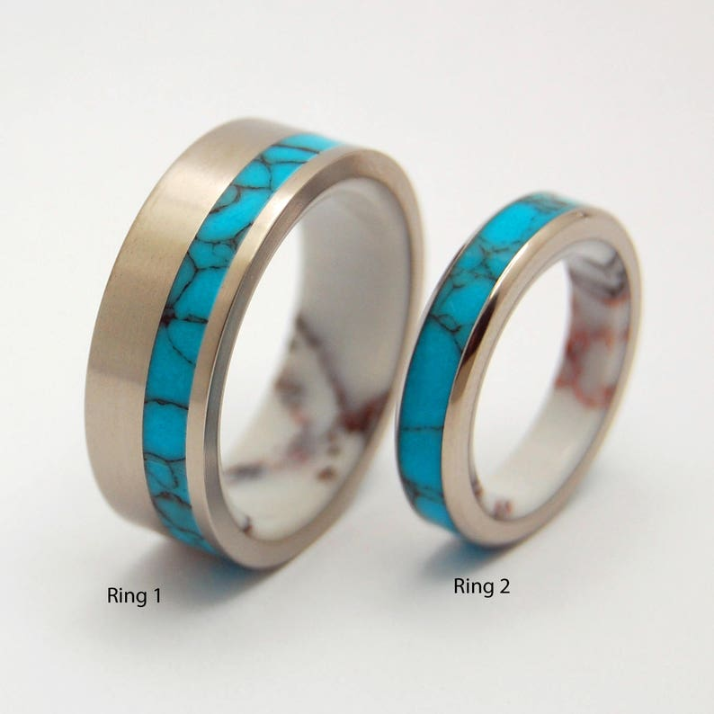 Titanium Wedding Rings.Titanium Wedding Bands Titanium Wedding Rings Mens Rings Womens Rings Turquoise Wild Horse Once In A Lifetime And Once In A Blue Moon