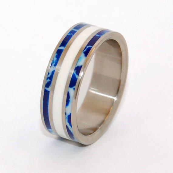 Titan Ehering Titan Ring Etwas Blau Herren Ring Ring Der Etsy
