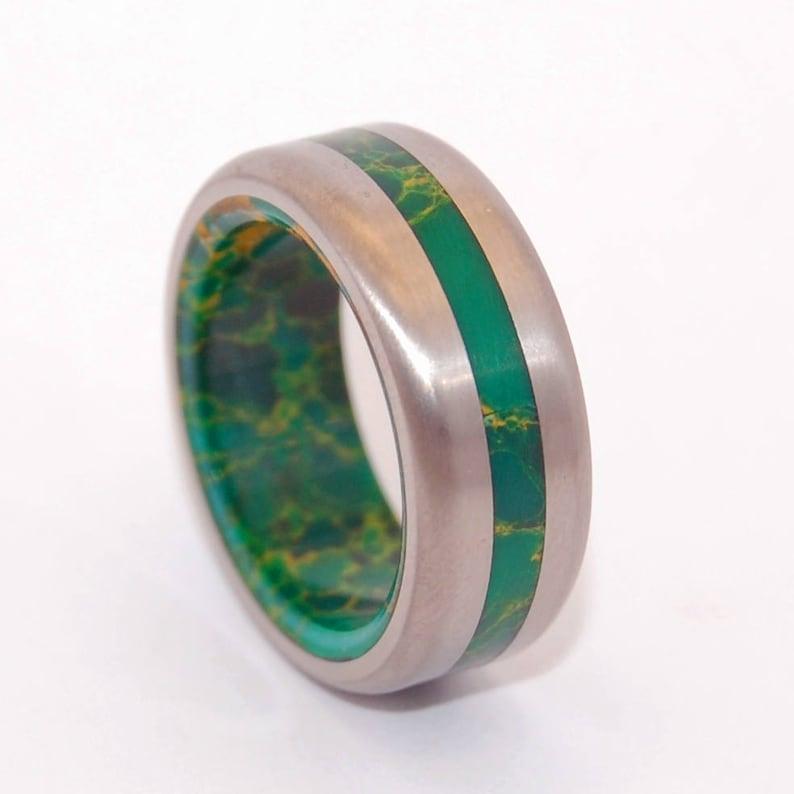 Mens Ring Jade Ring Titanium Ring Jade Mens Ring Womens Etsy