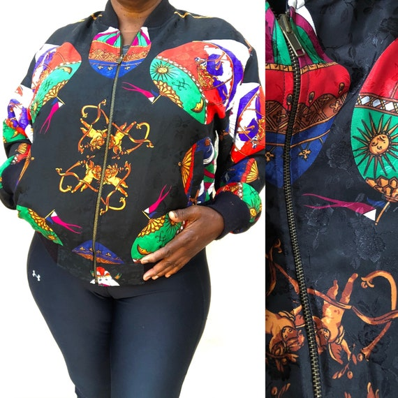 Retro Abstract Bomber Jacket / Women's Bomber Jack