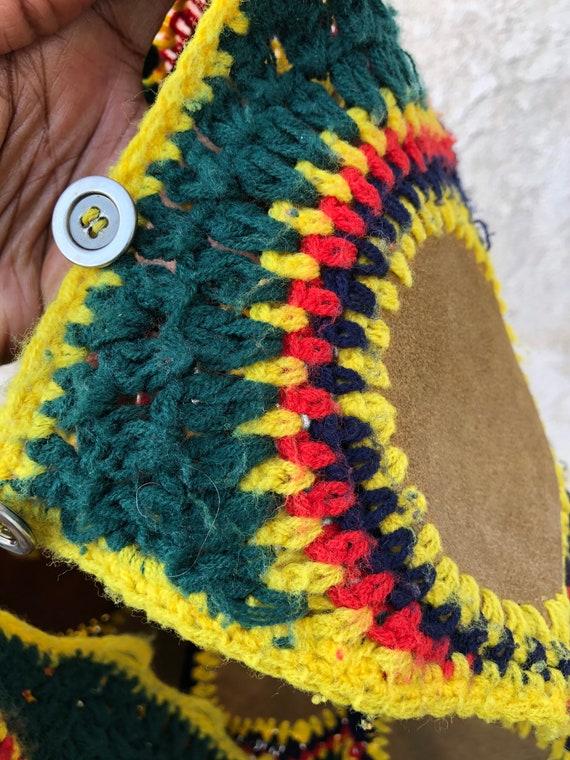 Vintage 70's Crochet Vest / Charlie's Girls Vest … - image 7