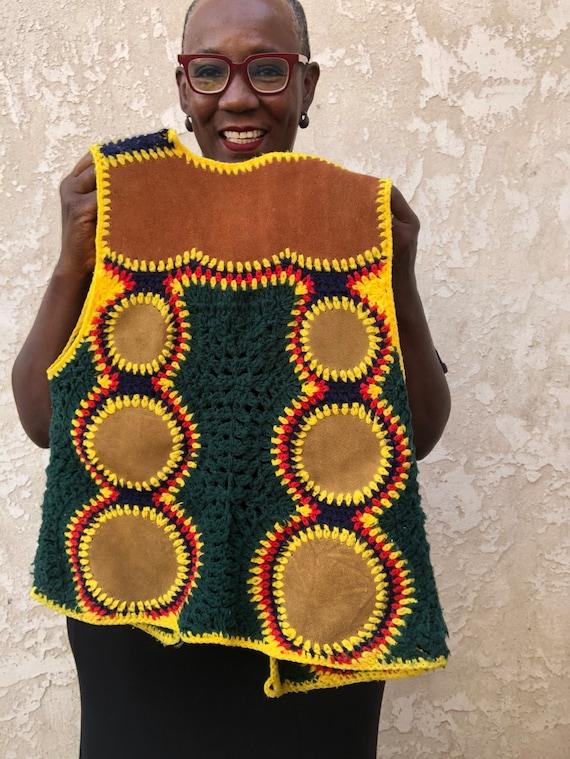 Vintage 70's Crochet Vest / Charlie's Girls Vest … - image 5
