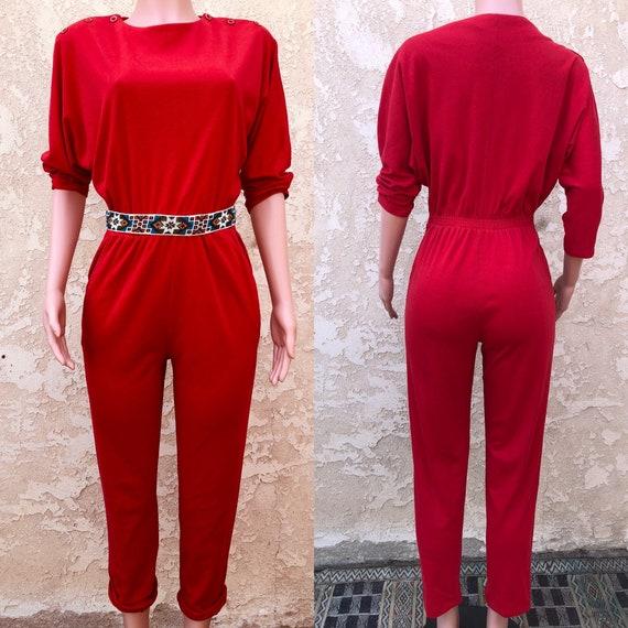 Vintage Jumpsuit / Vintage 80s Jumpsuit  / Long Ju
