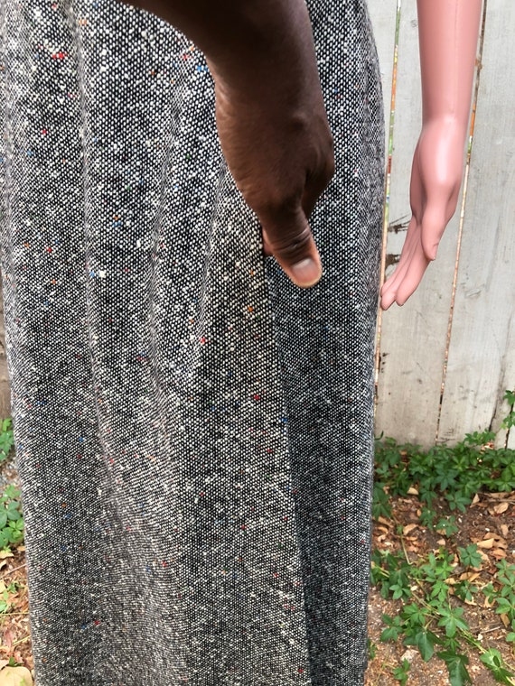 Vintage EMCAR Wool Skirt & Shawl / Maxi Skirts /W… - image 5