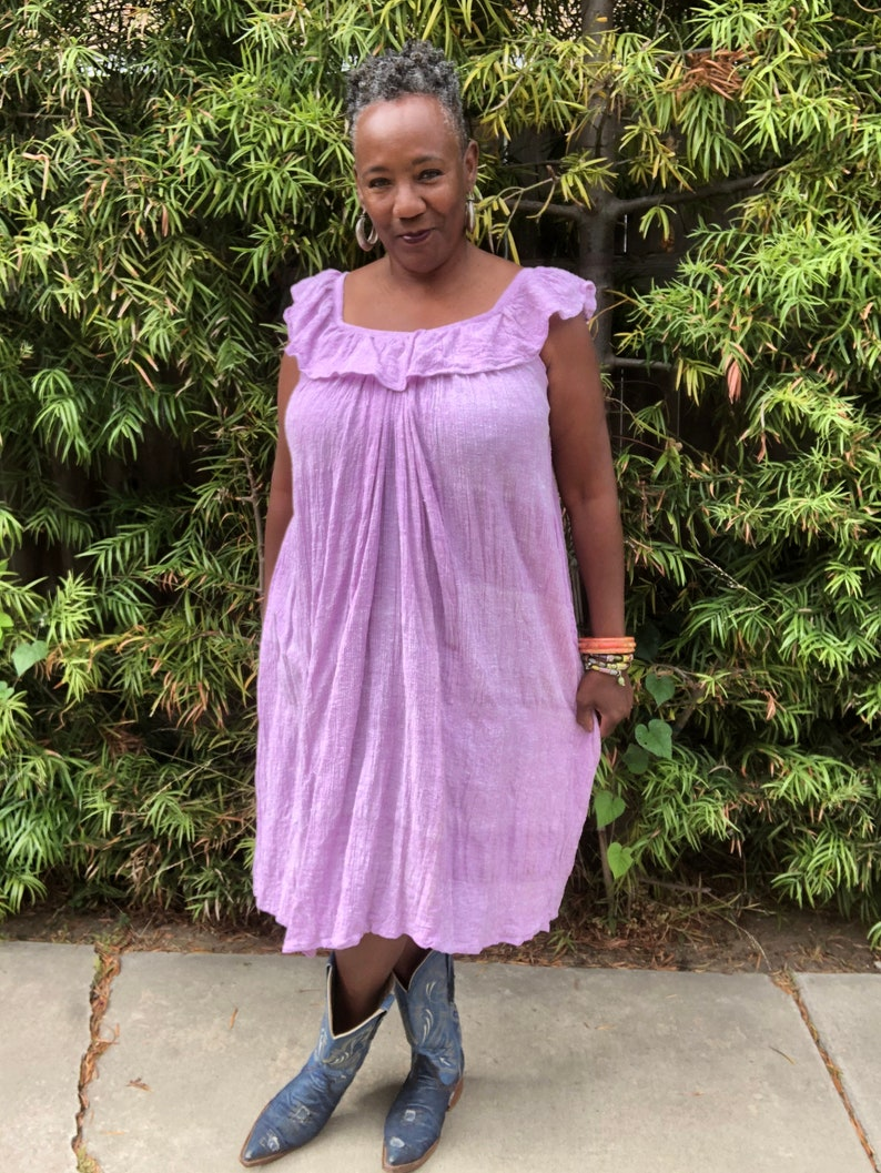 Deadstock Vintage Dress  70/'s Zodiac Sundress  Bohemian  Boho Dress  MuuMuu Size L