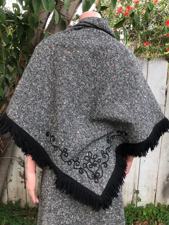 Vintage EMCAR Wool Skirt & Shawl / Maxi Skirts /W… - image 8