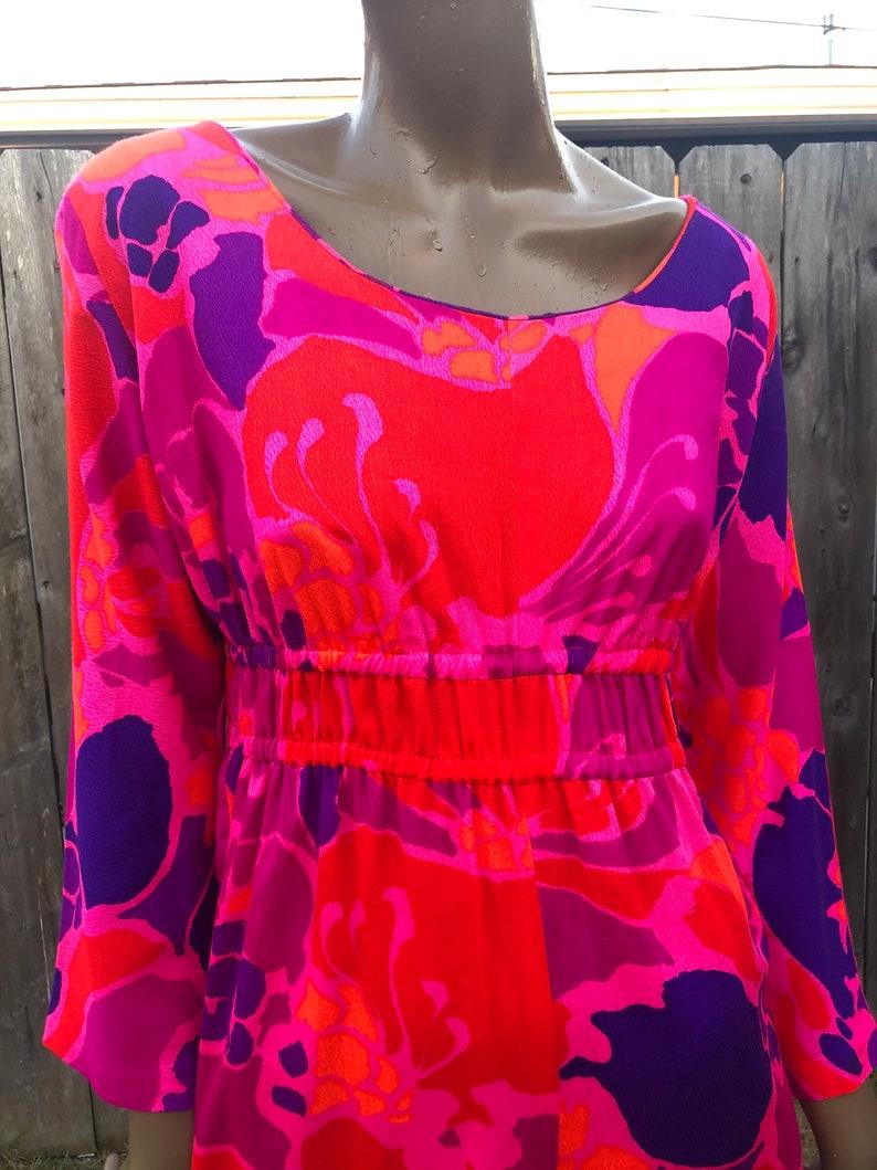 Vintage 70/'s Jumpsuit  Kamehameha Palazzo Jumpsuit  70/'s Jumpsuit  Hippie  Tiki Outfit Size SmallMedium