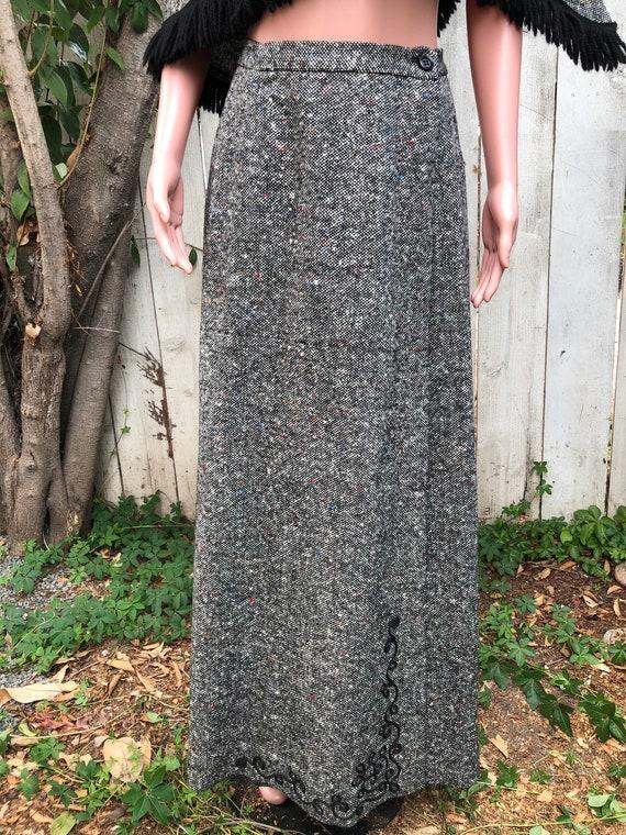 Vintage EMCAR Wool Skirt & Shawl / Maxi Skirts /W… - image 4