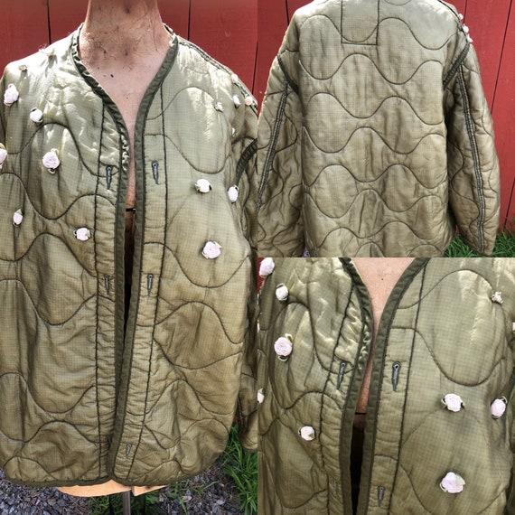 Vintage Military Jacket Liner / Reworked Jacket li