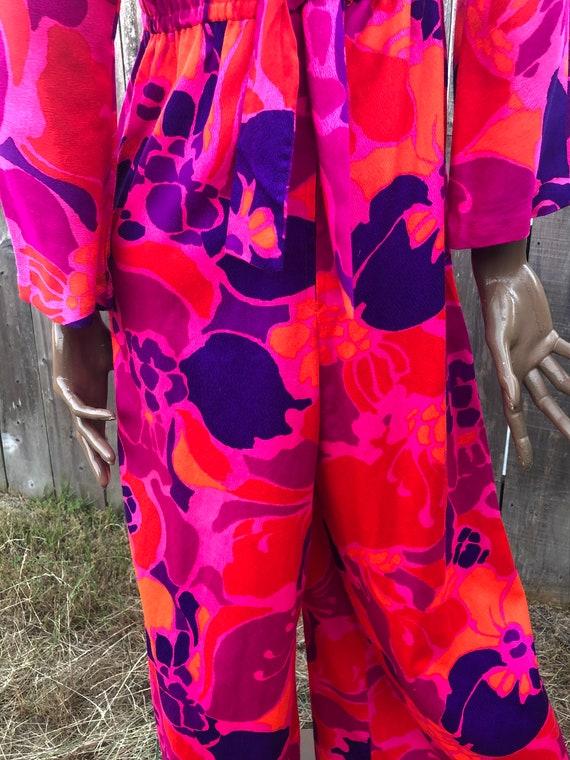 Vintage 70's Jumpsuit / Kamehameha Palazzo Jumpsu… - image 6