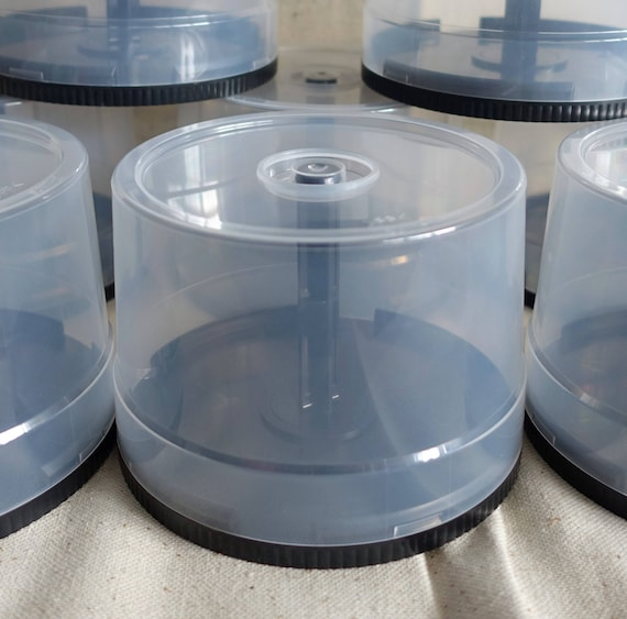 Two Empty CD/DVD Storage Cases 50 Disc Capacity Spindle Holder, Cake ...