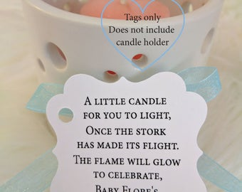Candle Favor Tags Etsy