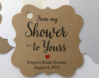 From My Shower To Yours Tags Printable Editable Favor Tag