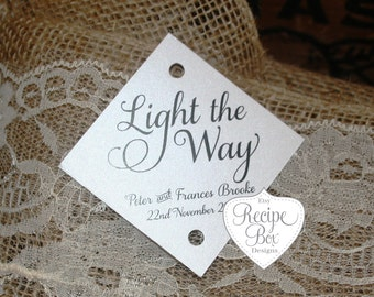 Sparkler Wedding Tags, Light the way, Rustic Wedding Tags, Personalized Sparkler Tag, Sparklers, Sparkler Tag, Let Love Sparkle, Tags
