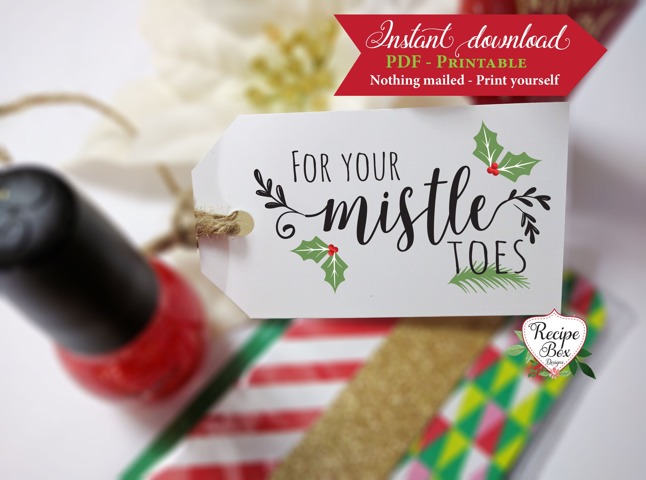 photograph about For Your Mistletoes Printable referred to as Xmas Tags Printable, For your mistletoes printable nail