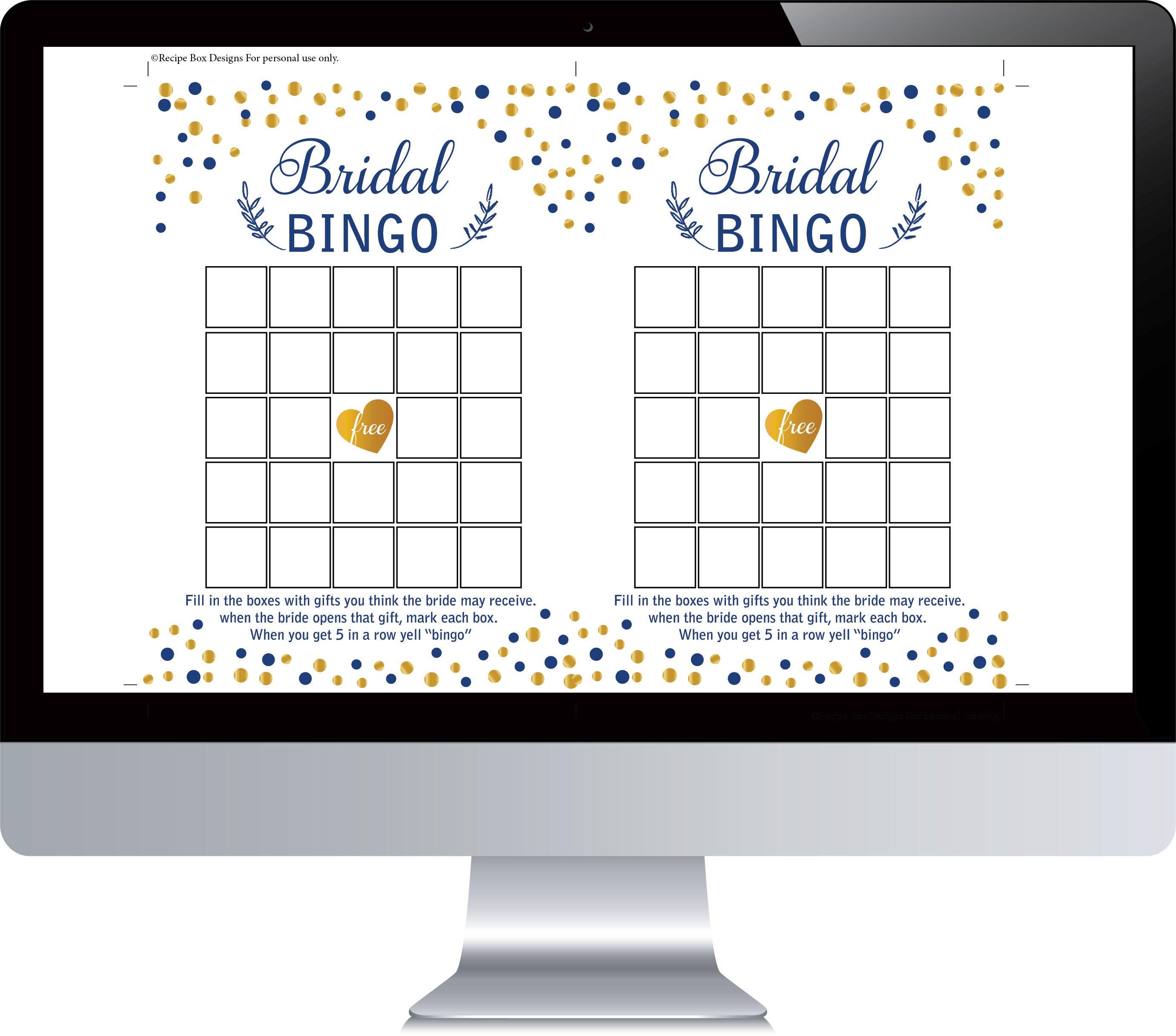 Bridal Bingo Template | Bridal Shower Bingo Printable Bridal Shower Games Bingo Printable