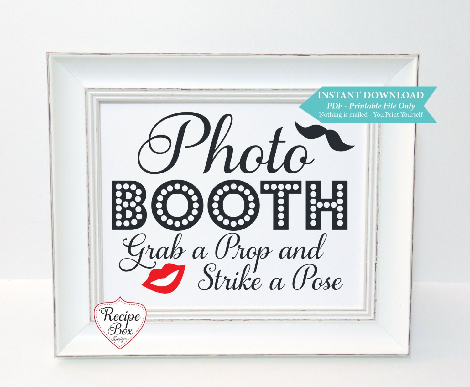 Photo Booth Printable Wedding Sign Decorations Instant Download