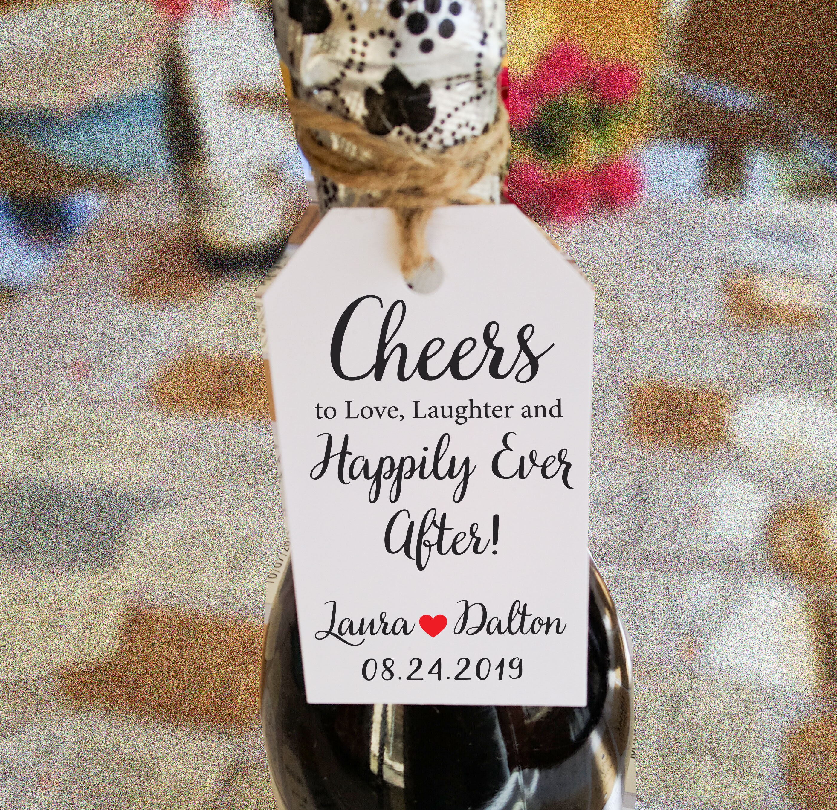 c8092fc59210 Cheers, Love Laughter, Favor Tags, Sweet Thank you Tags, Happily ...