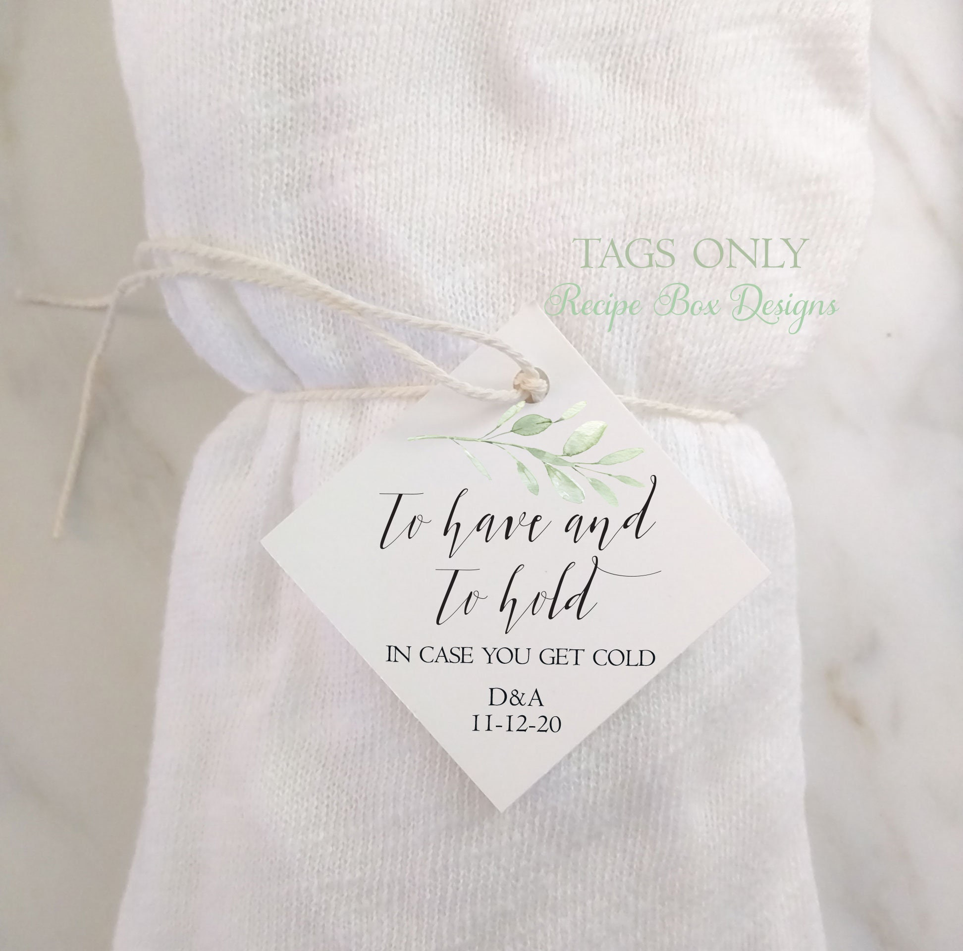Wedding Favour Scarf To Have And To Hold In Case You Get Cold Pashmina Tags