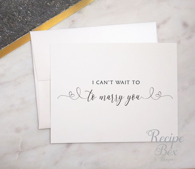 e1f95fc374818 I Can't Wait To Marry You, Engagement Cards, Wedding Cards, card for  Fiance, Wedding Card Greeting Card To Bride or Groom Card
