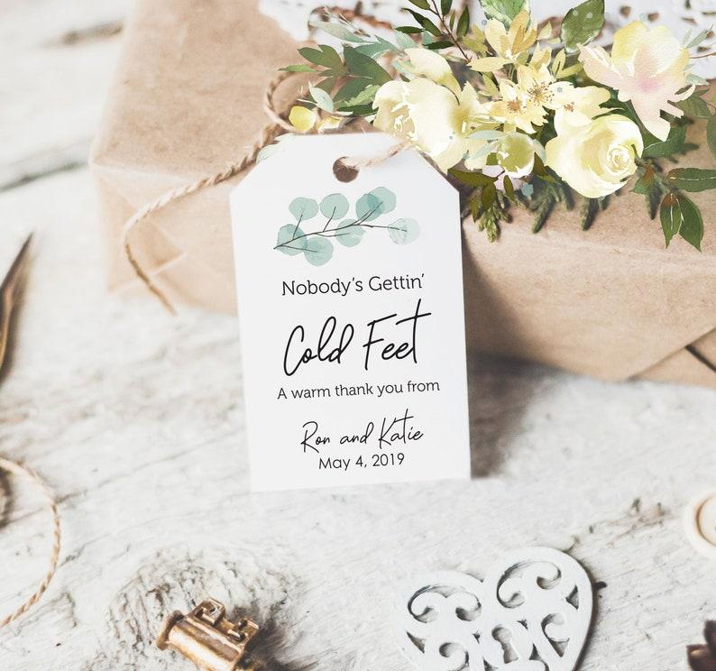 Cold Feet Wedding Favors Bridal Shower Favor Tags Engagement Etsy