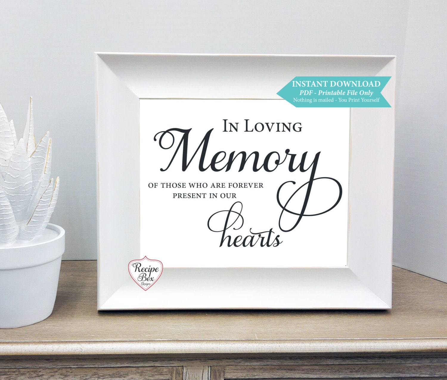 Printable Rememberance In Loving Memory Of Those Who Are Forever