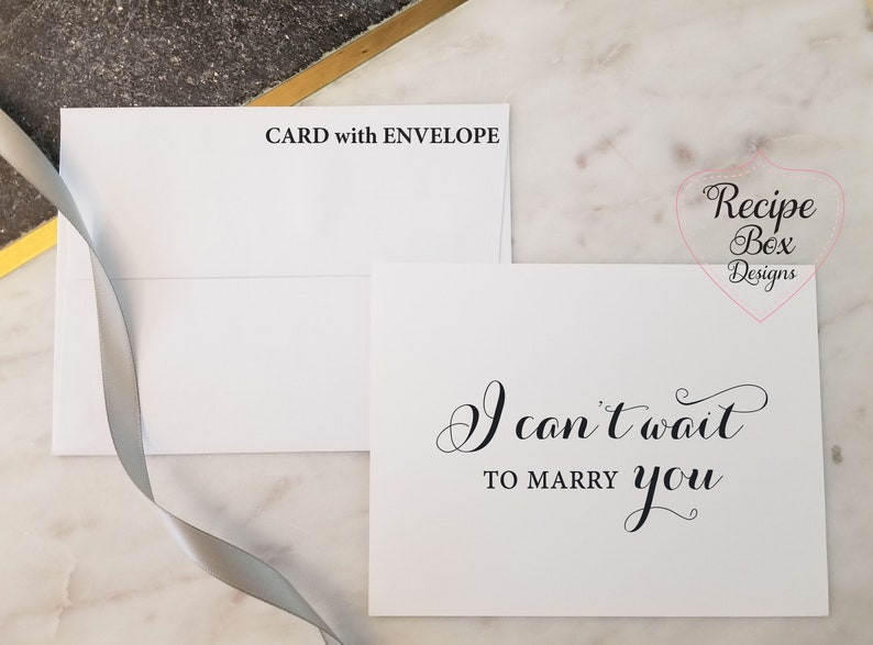 Note Card See you at the alter card Wedding Cards Love Note before I do Note to Bride Note to Groom I Can/'t Wait To Marry You Card