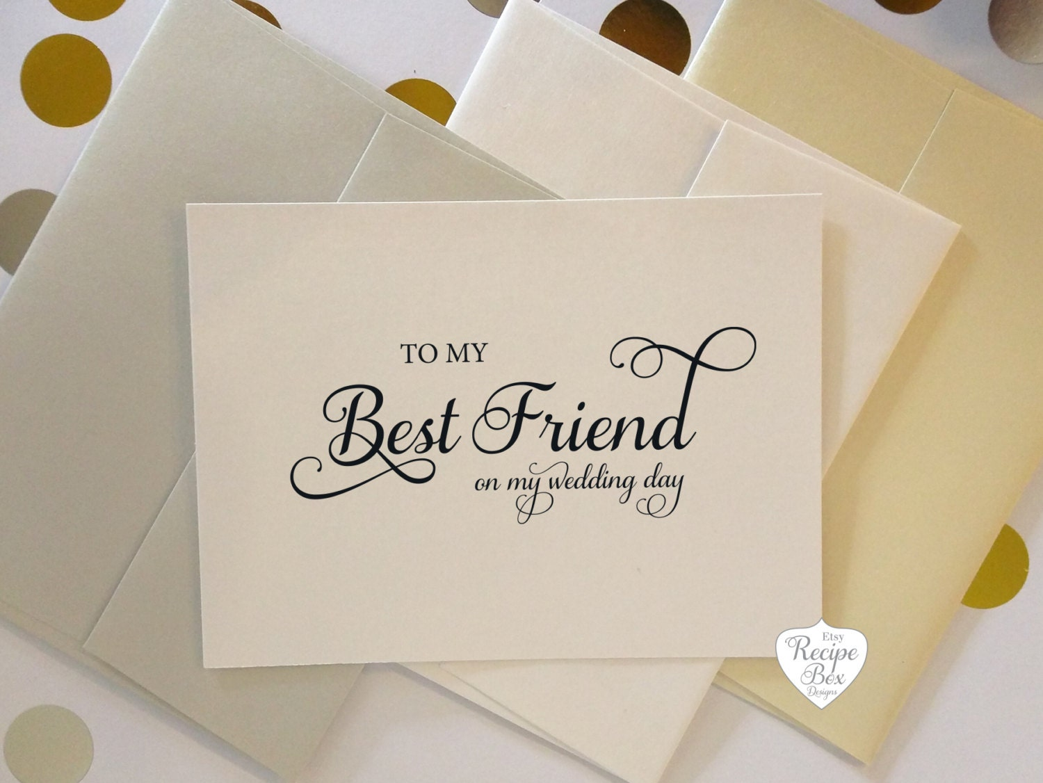 To My Best Friend Bestie On My Wedding Day Wedding Cards Etsy