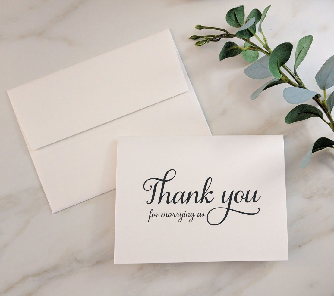 Wedding Cards Thank You For Marrying Us Wedding Card Thank