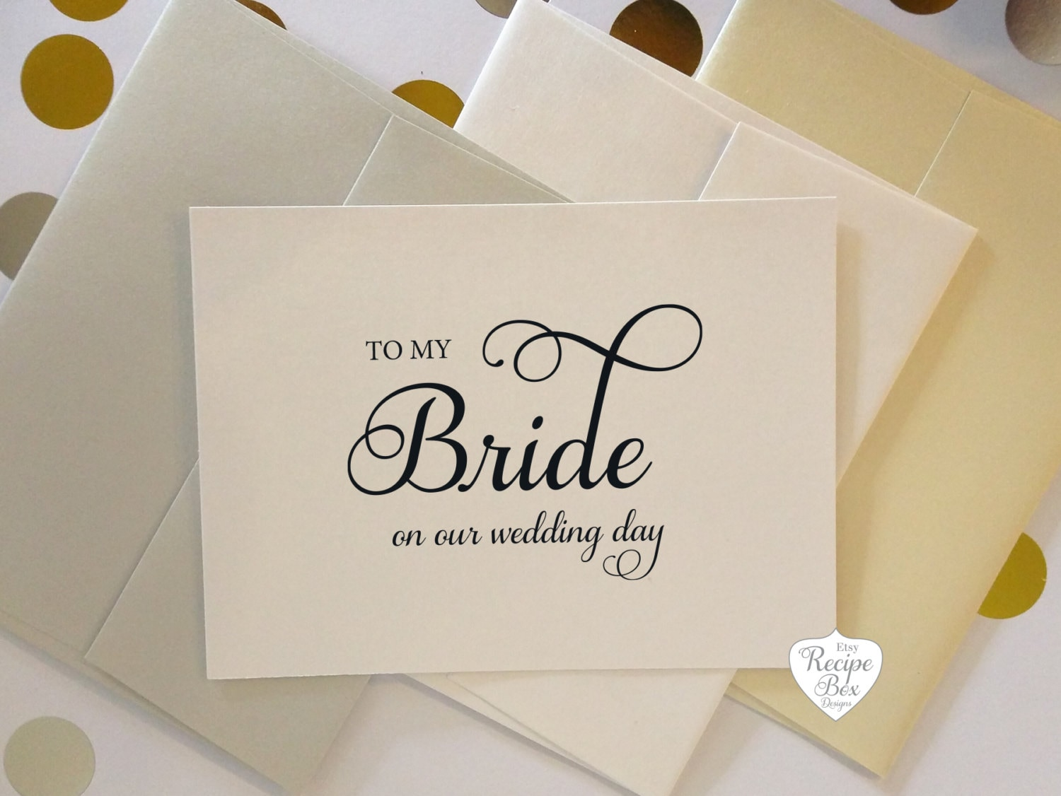 to my bride on our wedding day card to my groom wedding card