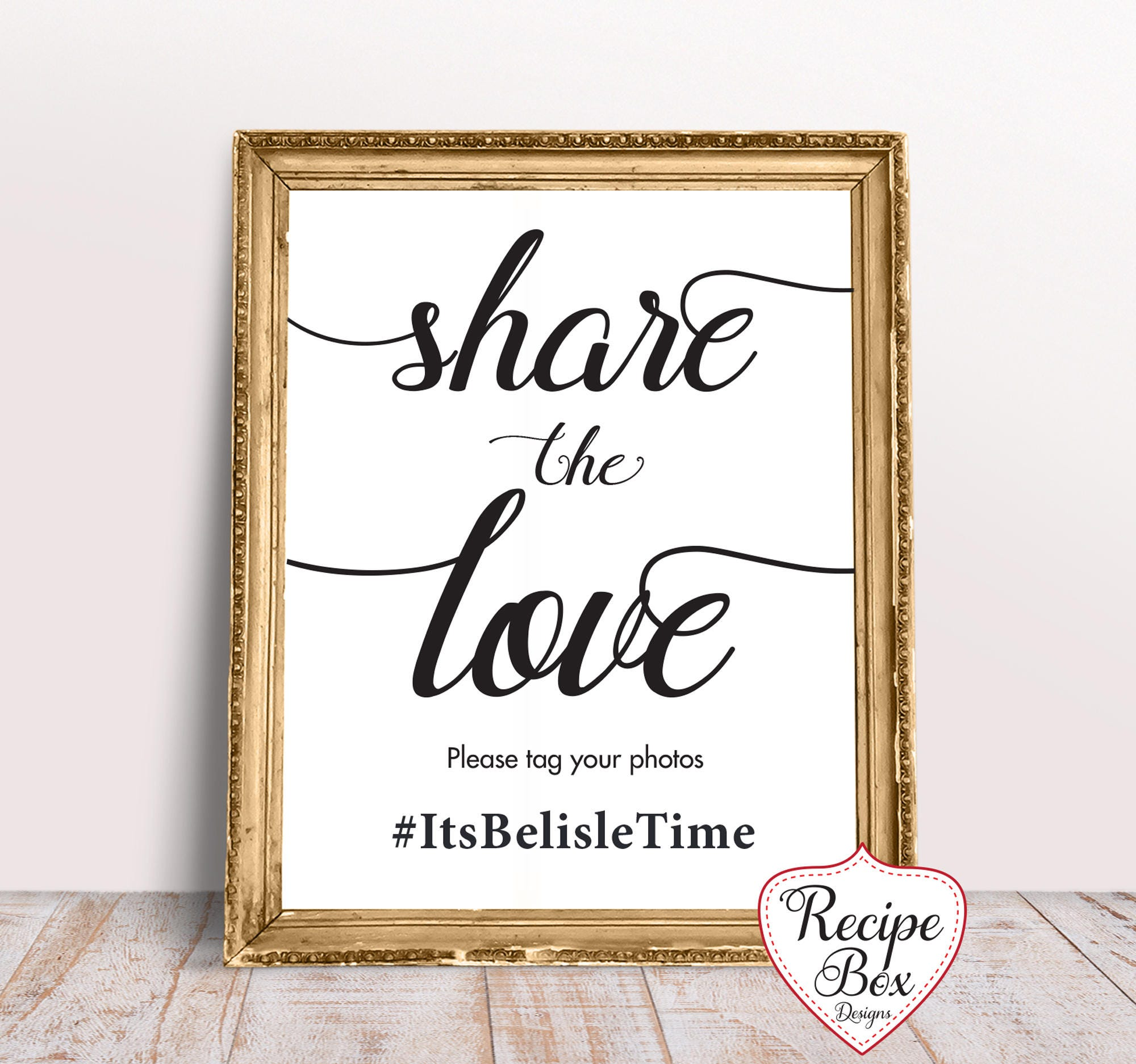 Wedding Hashtag Sign Share The Love Hashtag Sign Wedding