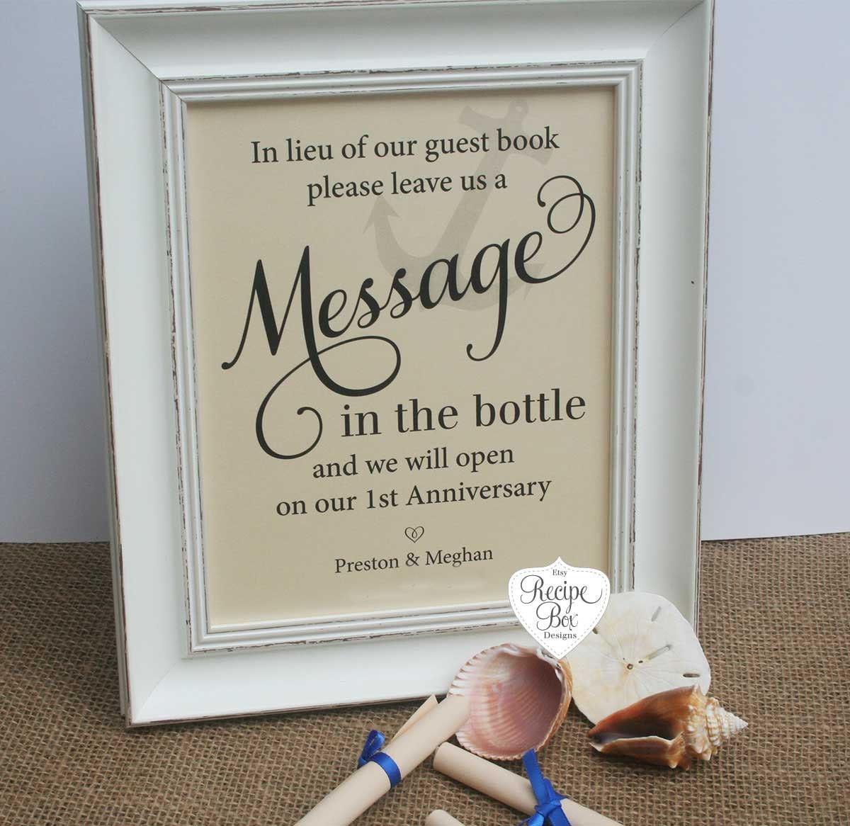 Message in the bottle Wedding Guest Book Beach Wedding Signs | Etsy