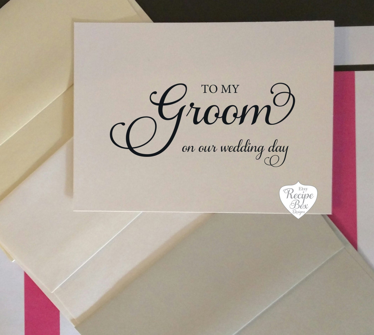 To My Groom Bride On Our Wedding Day Groom Card Wedding Card To