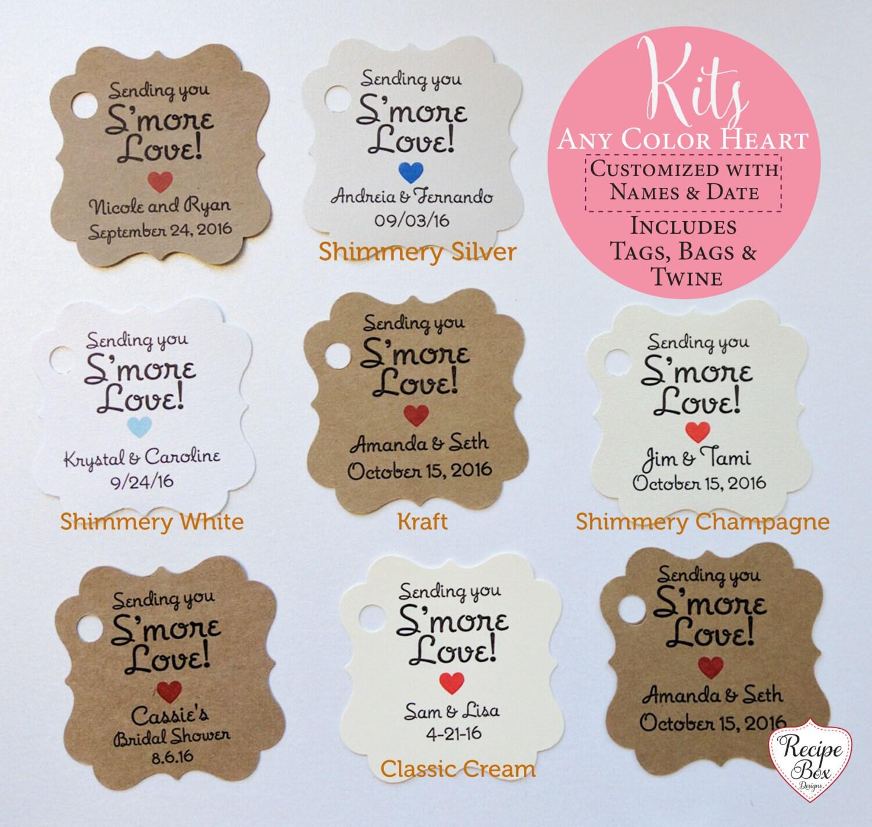 Smores Kits, Smores, Smore Love Tags, Smores Wedding Favor Kits ...