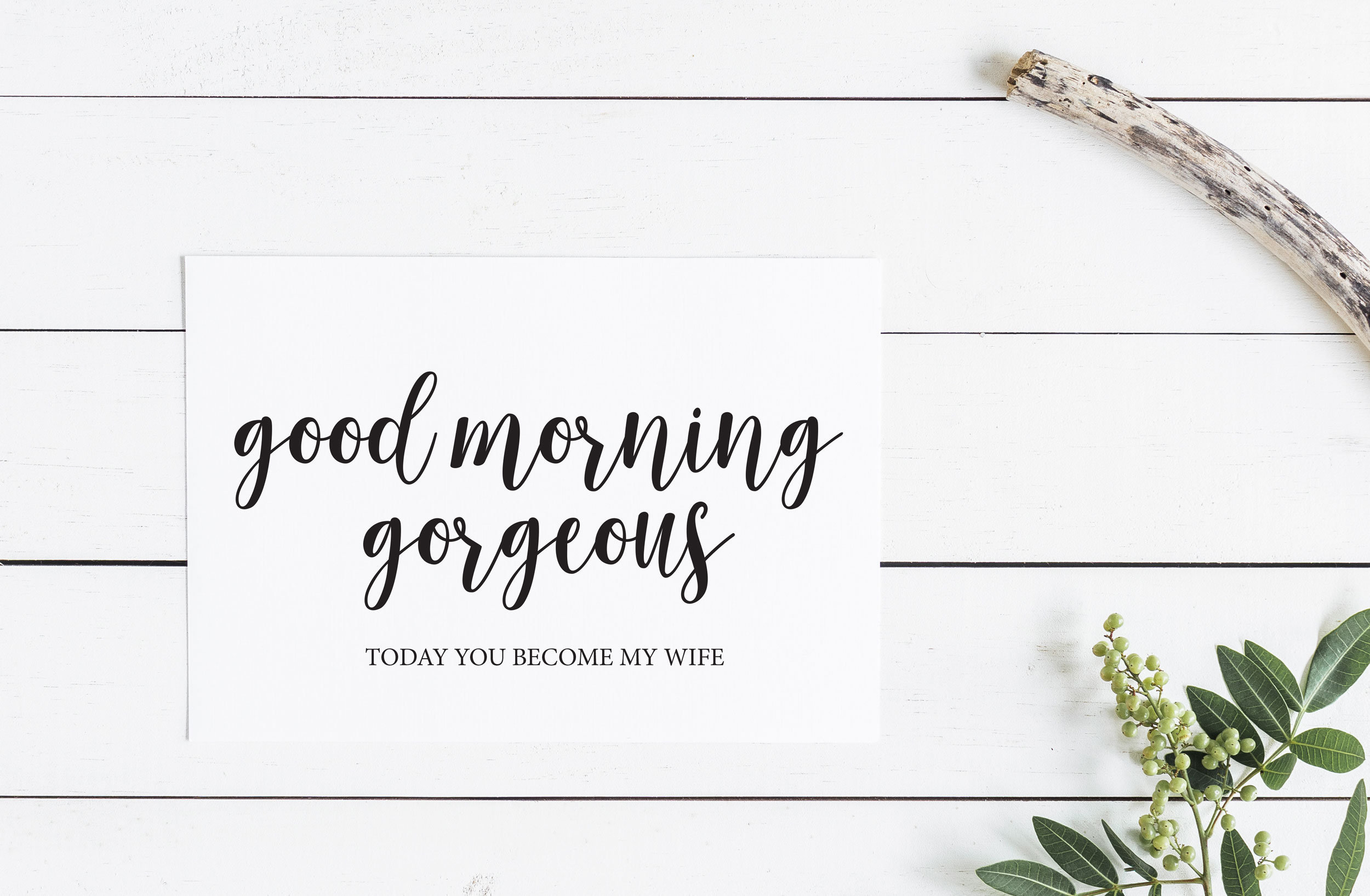 good morning gorgeous hello handsome to my groom bride cards groom card bride card wedding cards bride gifts groom 2 cards