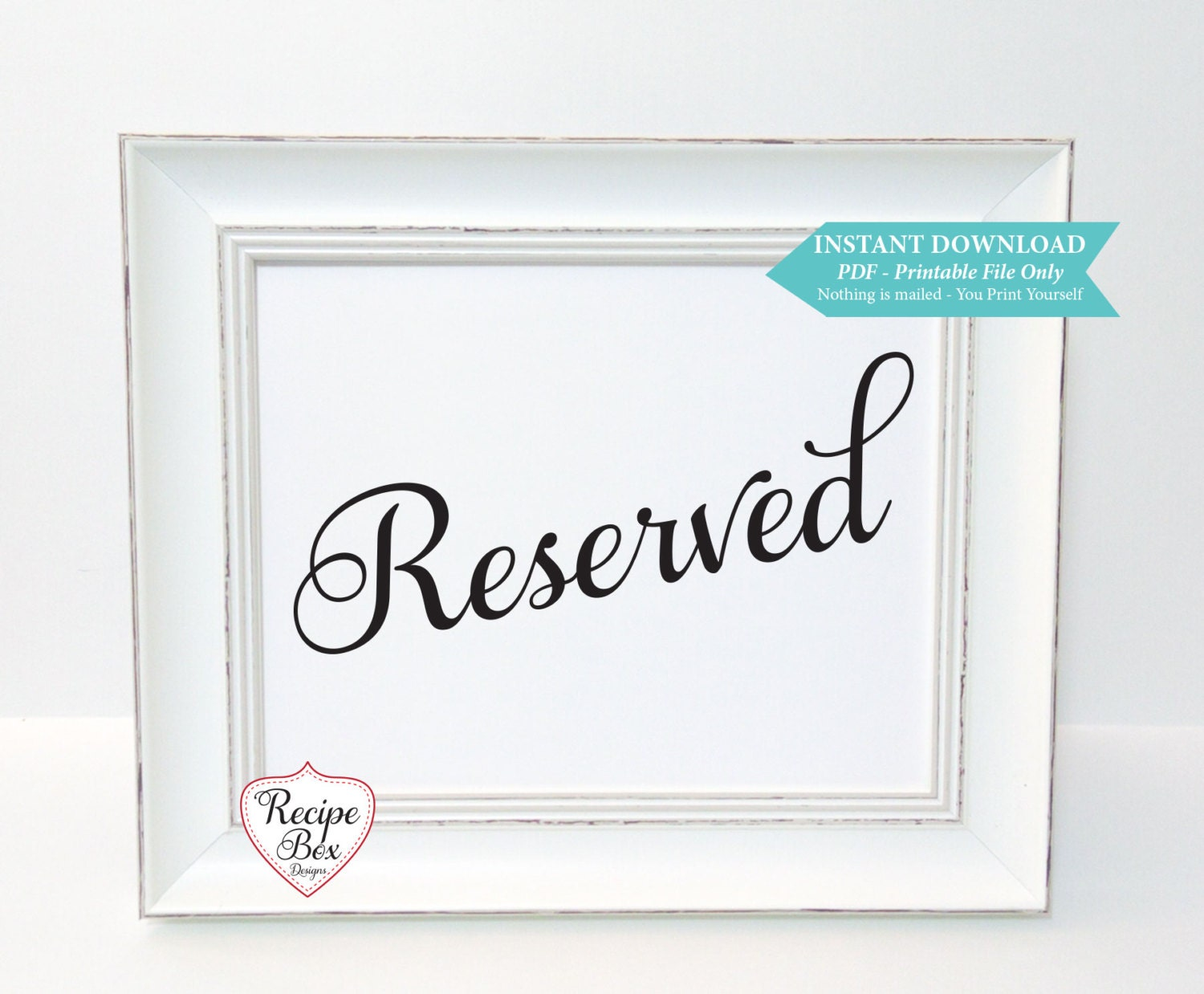 It is a picture of Printable Reserved Signs for name template