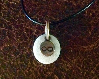 Infinity Natural beach stone Necklace