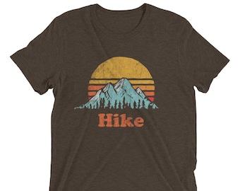 HIKE - Vintage Retro Mountain Sun & Trees Design Short sleeve t-shirt